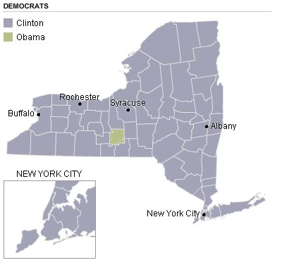 New York Democratic Electoral Map