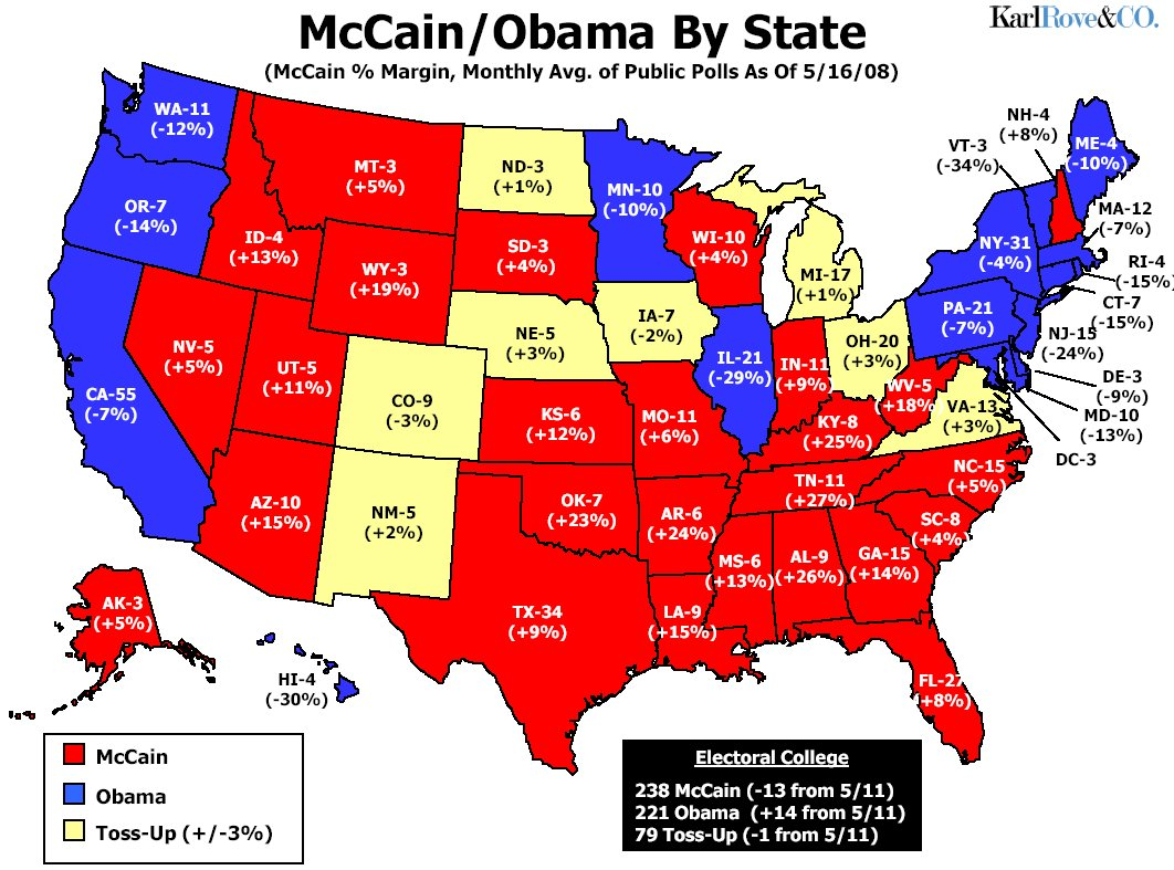 map obama advancement states project mccain